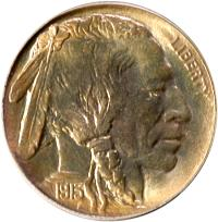 1913 Type I Buffalo Nickel, obverse