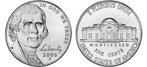 2006 Jefferson Nickel