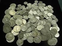 Various silver coins