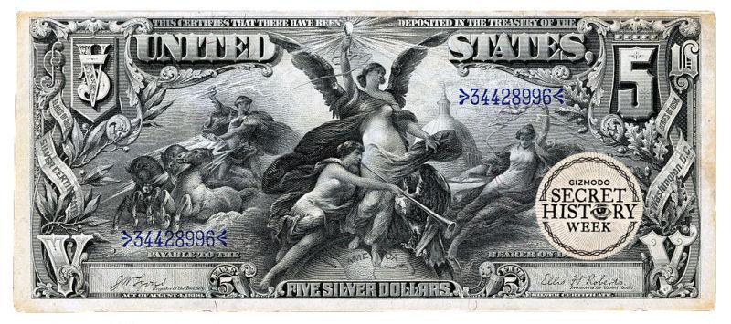 An old $5 bill