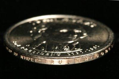 Adams Dollar with plain edge