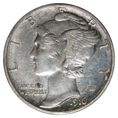 1916-D Dime (obv)