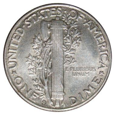 1916-D Dime (rev)