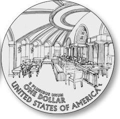 Reverse of Justice John Marshall Commemorative