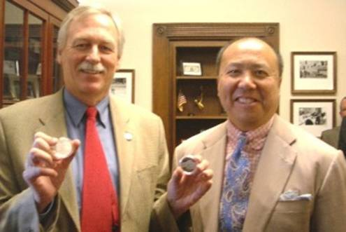 Edmund C. Moy, director of the U.S. Mint, and Congressman Snyder